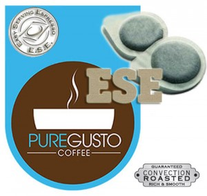 PureGusto Continental ESE Coffee Pods x 100